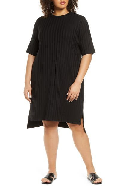 Eileen Fisher Downs STRIPE SHIFT DRESS