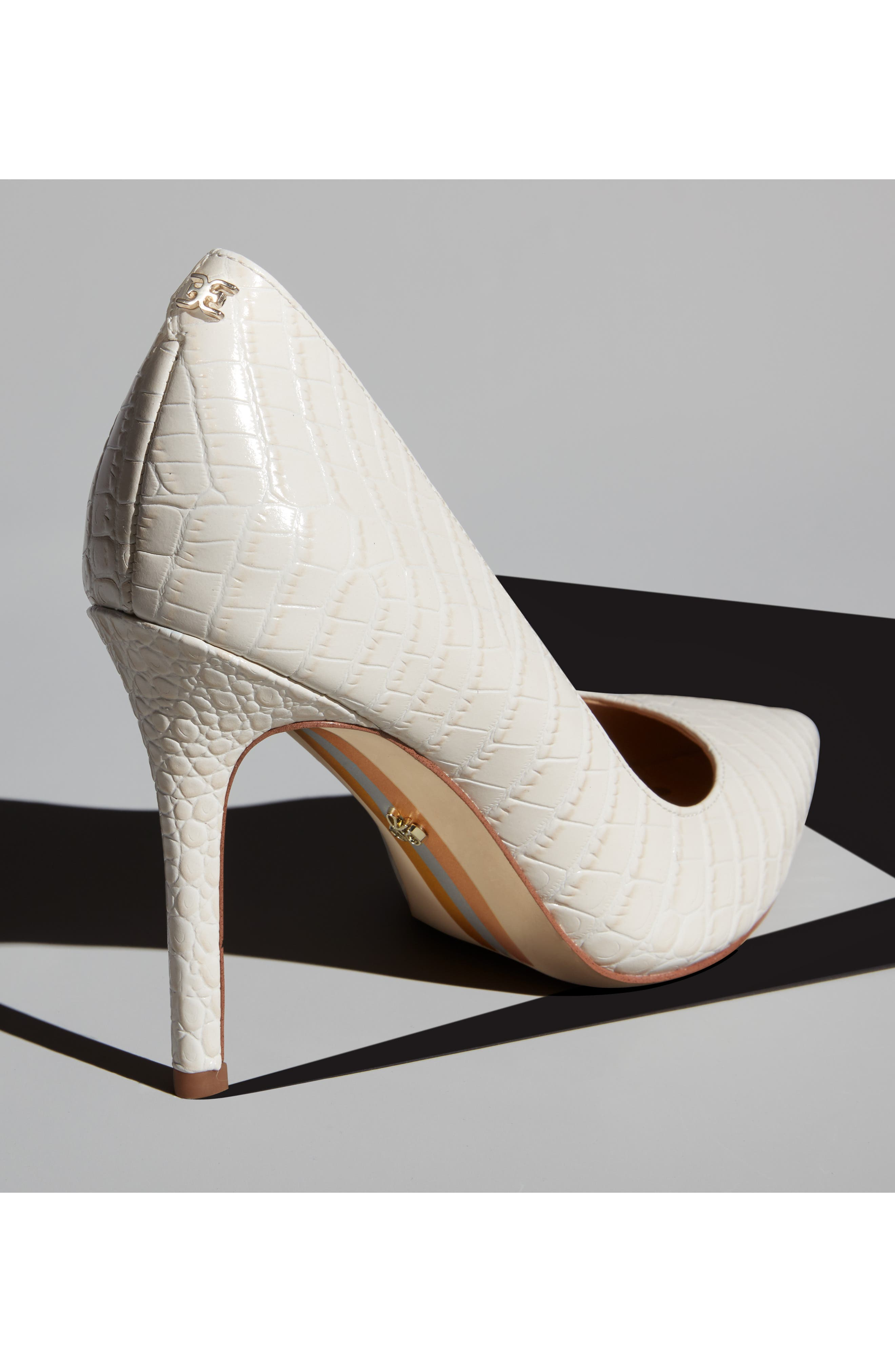 ,                             Hazel Pointy Toe Pump,                             Alternate thumbnail 12, color,                             MODERN IVORY LEATHER
