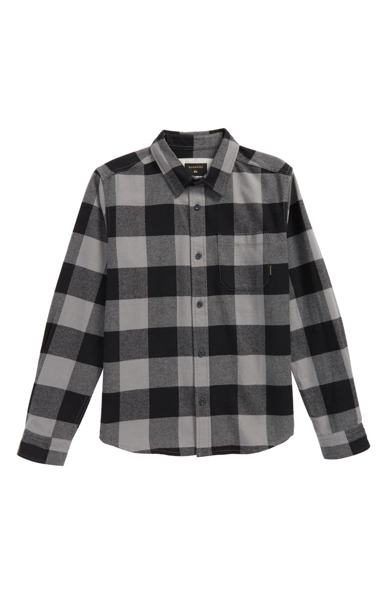 QUIKSILVER Motherfly Flannel Shirt, Main, color, 002