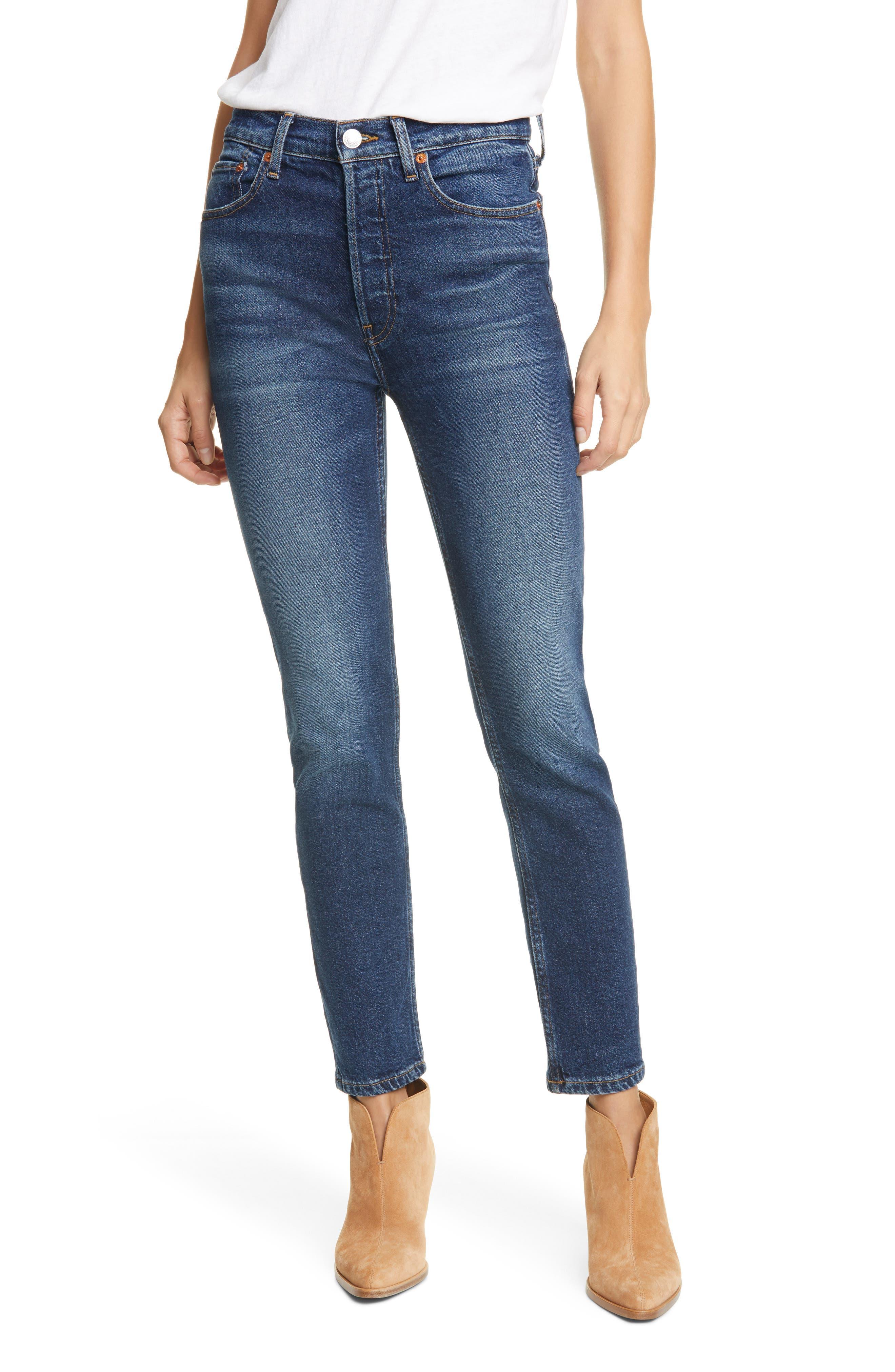 Women's Re/done Originals High Waist Stretch Crop Jeans