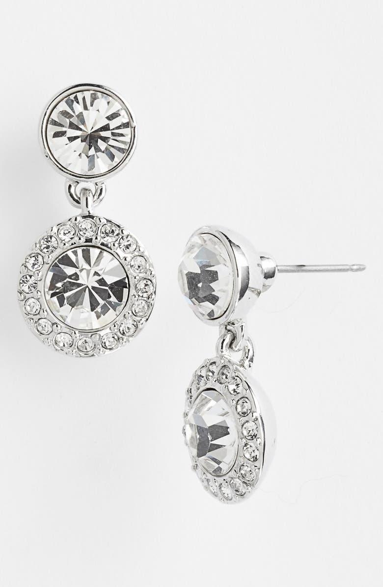GIVENCHY Pavé Drop Earrings, Main, color, 040