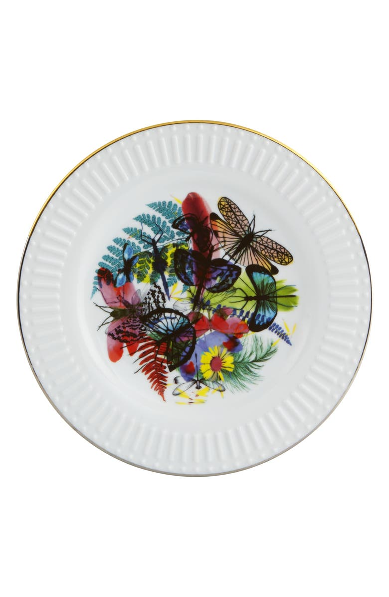 CHRISTIAN LACROIX Caribe Dessert Plate, Main, color, WHITE