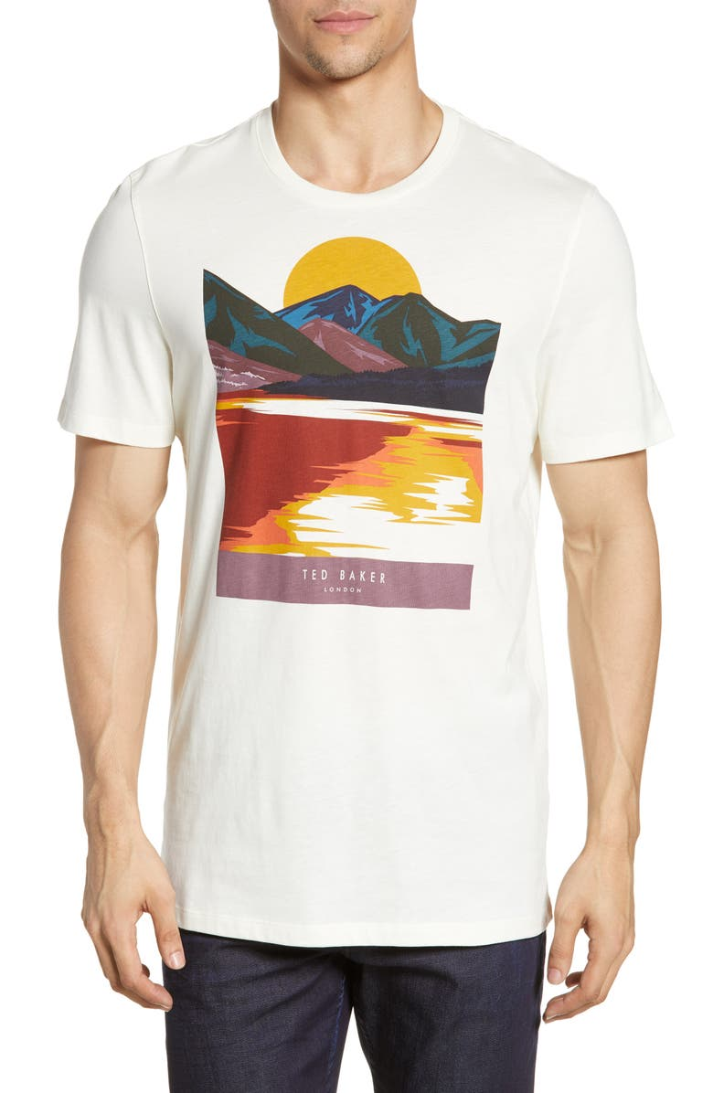 TED BAKER LONDON Hotsun Slim Fit Graphic T-Shirt, Main, color, ECRU