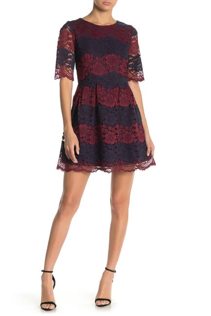 Image of FRNCH Two Tone Lace Dress