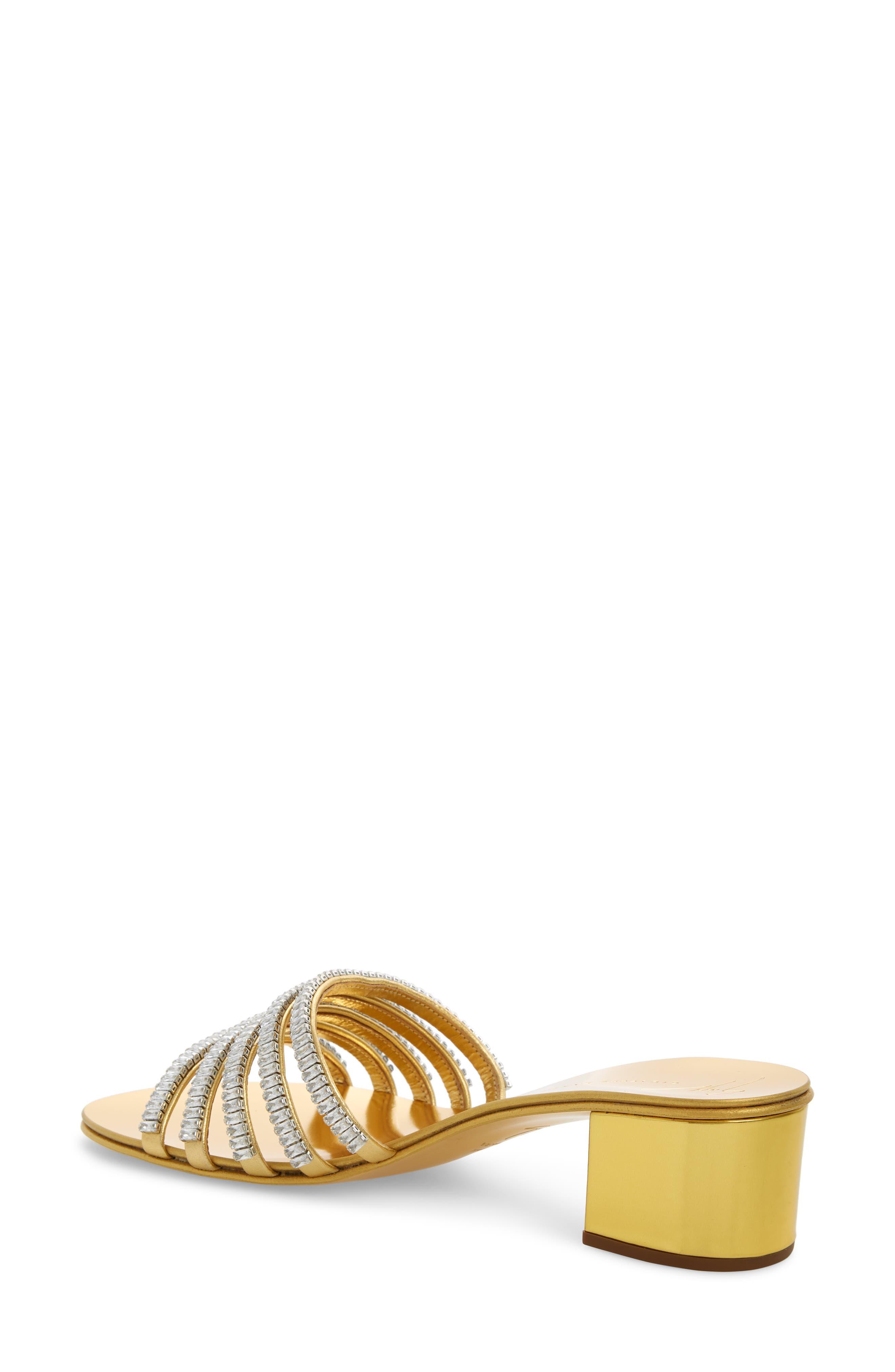 ,                             Crystal Embellished Slide Sandal,                             Alternate thumbnail 2, color,                             GOLD