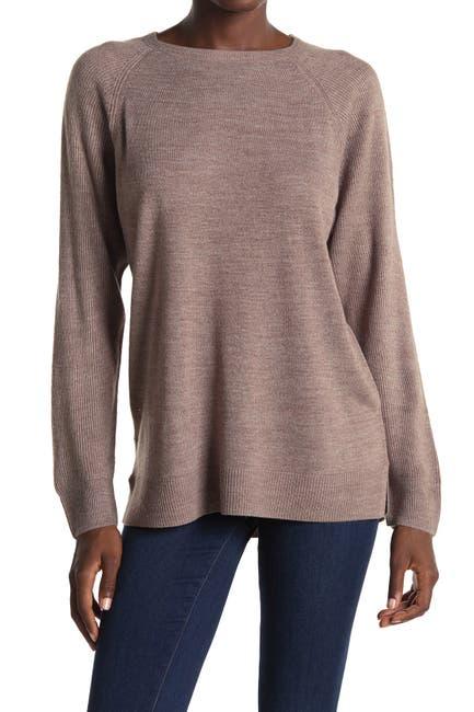 Image of Sweet Romeo Modern Girl Ribbed Raglan Sleeve Pullover Sweater