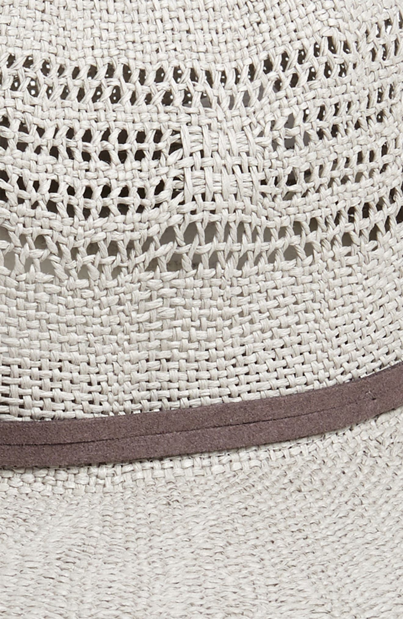 ,                             Open Weave Panama Hat,                             Alternate thumbnail 2, color,                             GREY