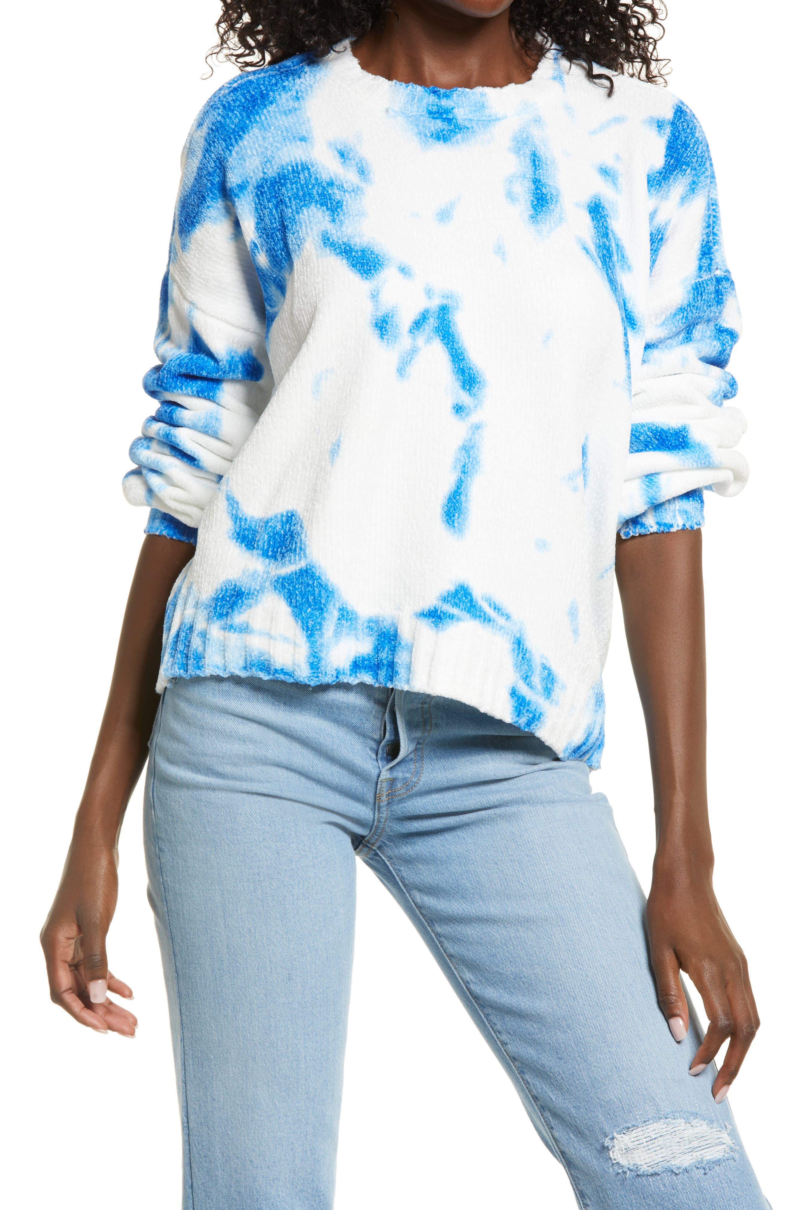 Women's Kendall + Kylie Tie Dye Chenille Sweater