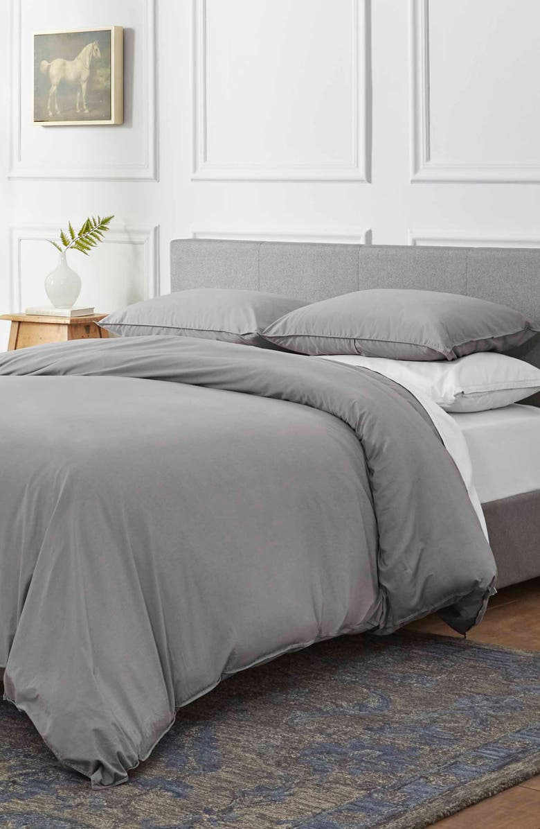 ED ELLEN DEGENERES Love Solid Duvet Cover & Sham Set, Main, color, 020