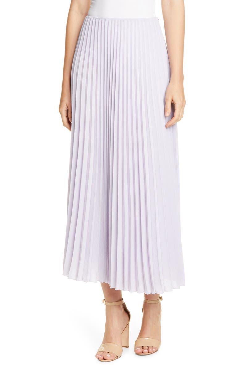 BOSS Vemeta Pleated Maxi Skirt, Main, color, AMETHYST