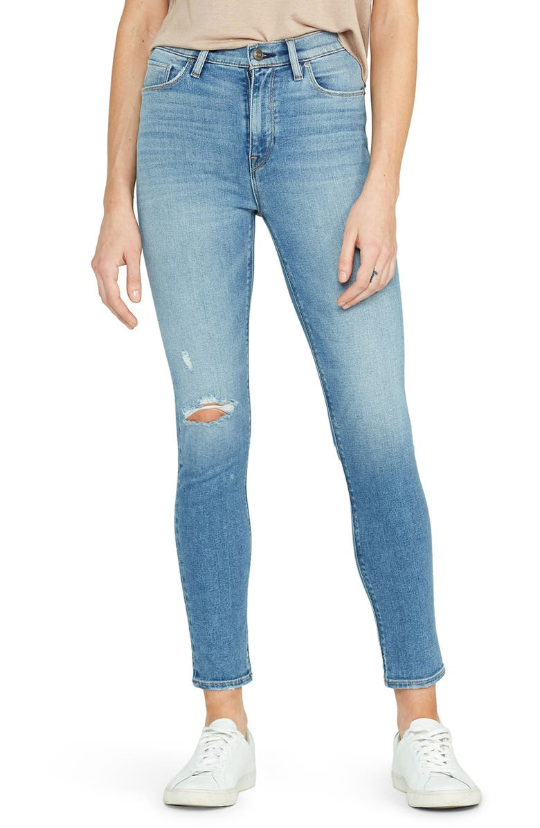 HUDSON JEANS Holly High Waist Ankle Skinny Jeans, Main, color, STAY
