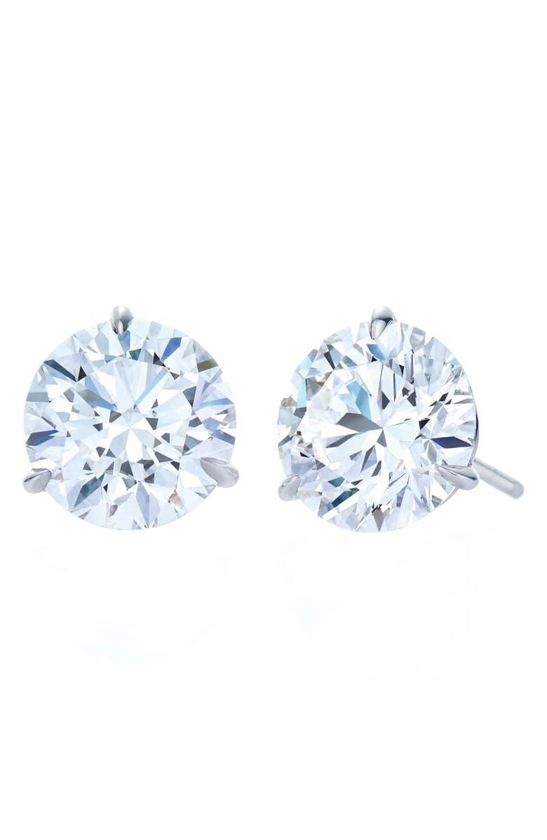 KWIAT 1.50ct tw Diamond & Platinum Stud Earrings, Main, color, PLATINUM