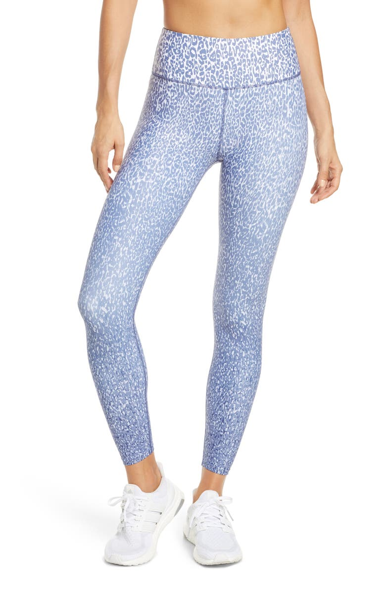 SOUL BY SOULCYCLE Ombré Leopard Tights, Main, color, 400