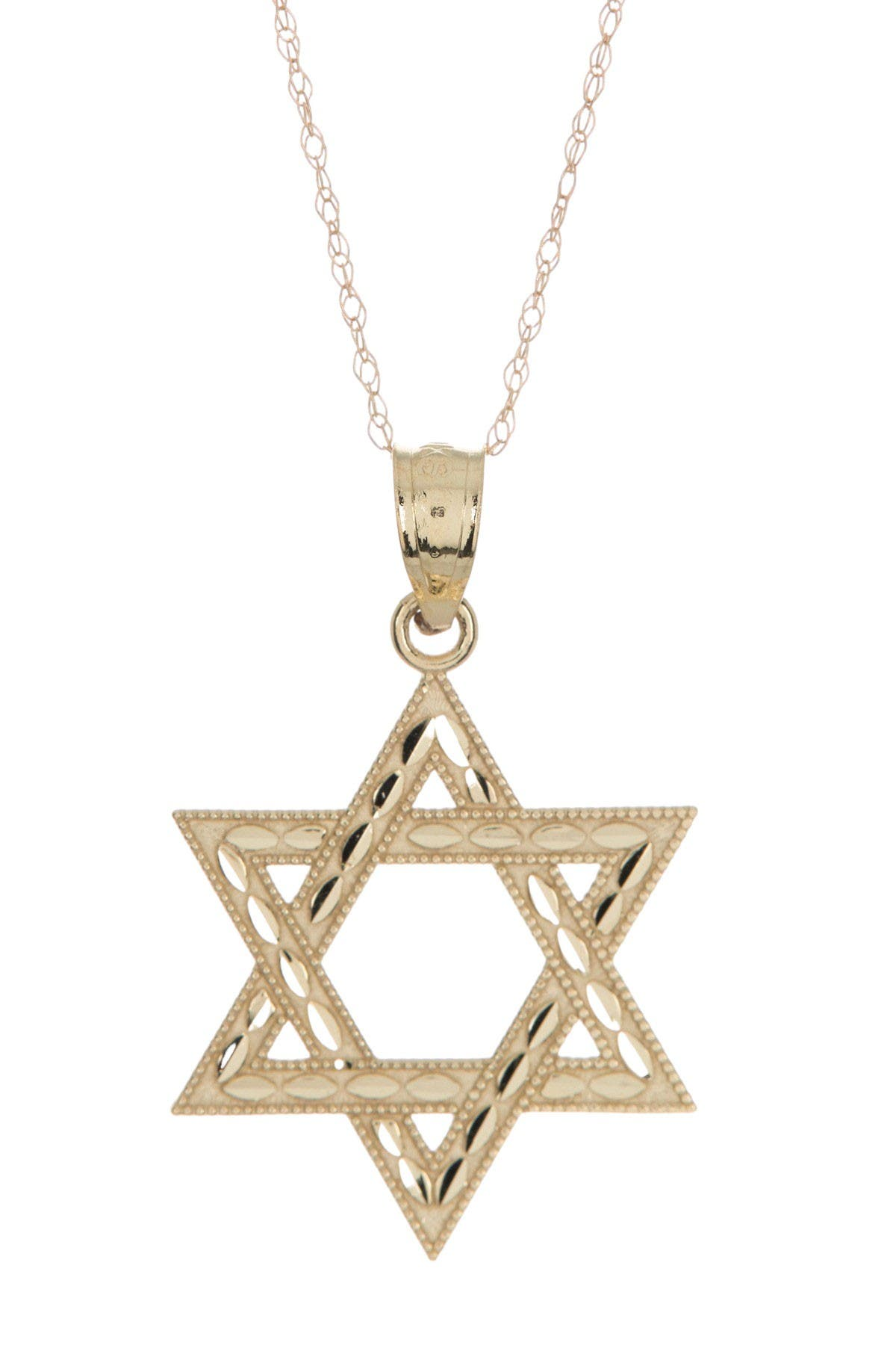Image of Candela 10K Yellow Gold Star of David Pendant Necklace