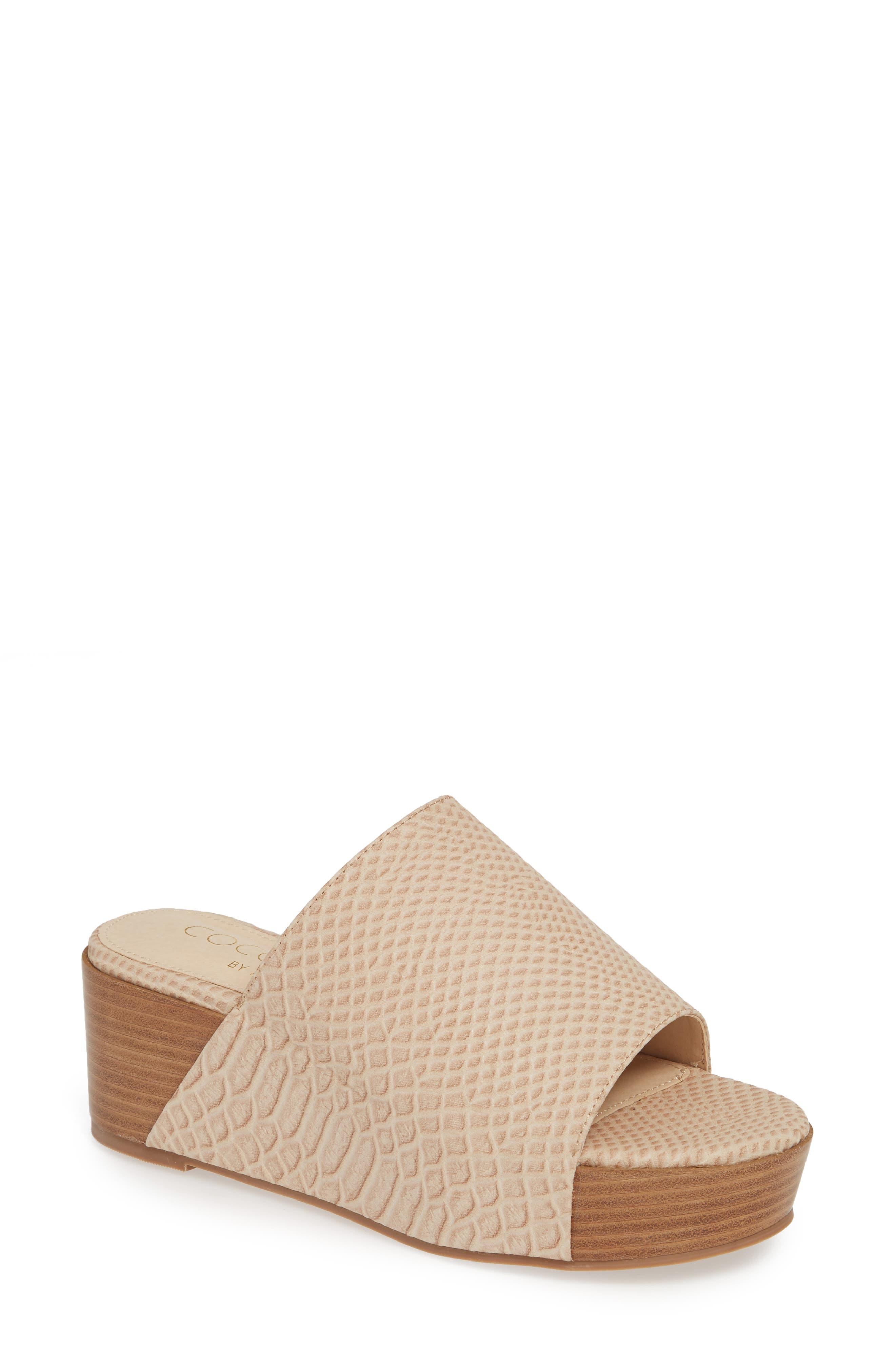 Coconuts By Matisse Freya Platform Slide Sandal, Ivory
