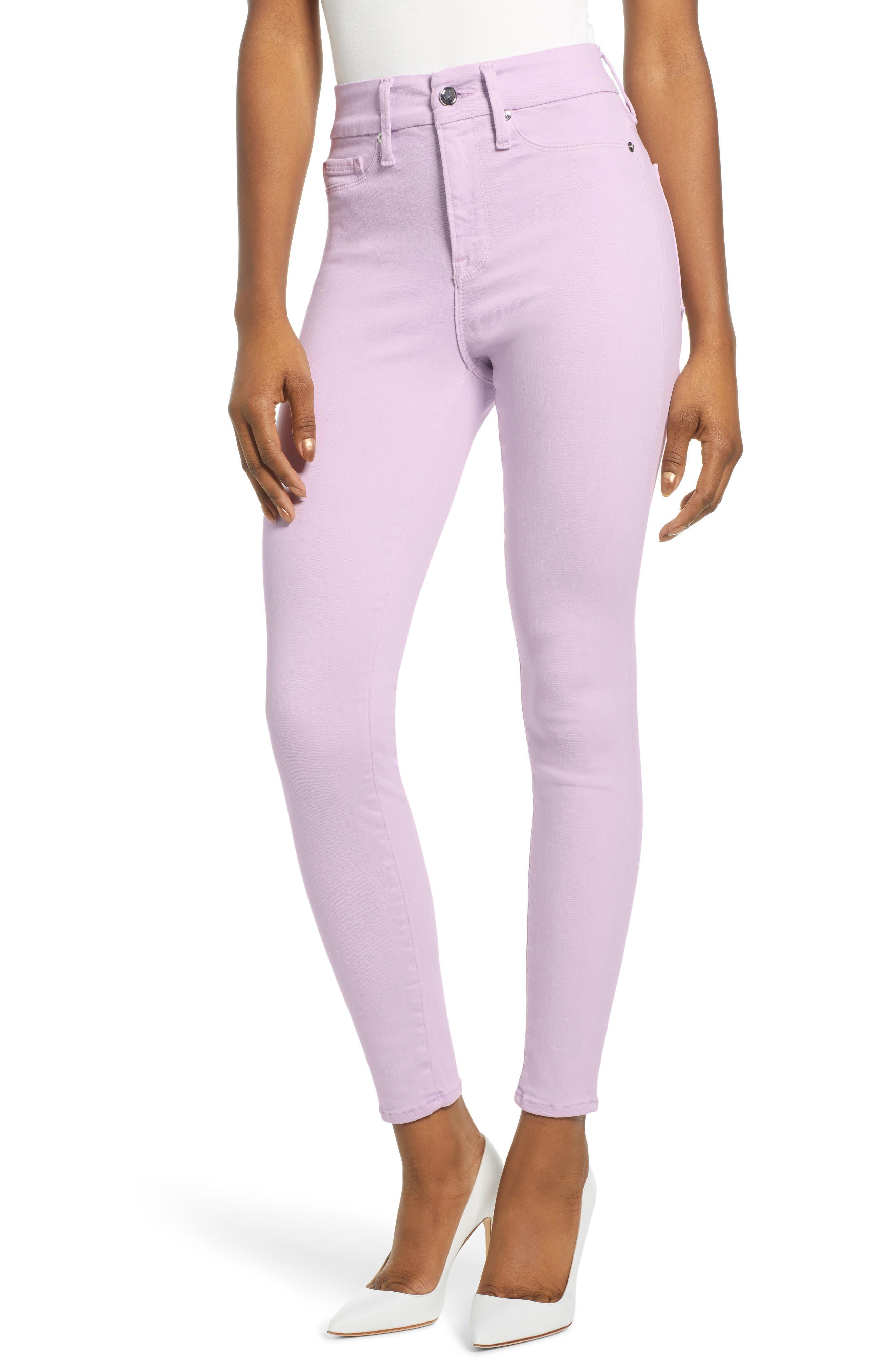,                             Good Legs High Waist Crop Skinny Jeans,                             Main thumbnail 1, color,                             LAVENDER001