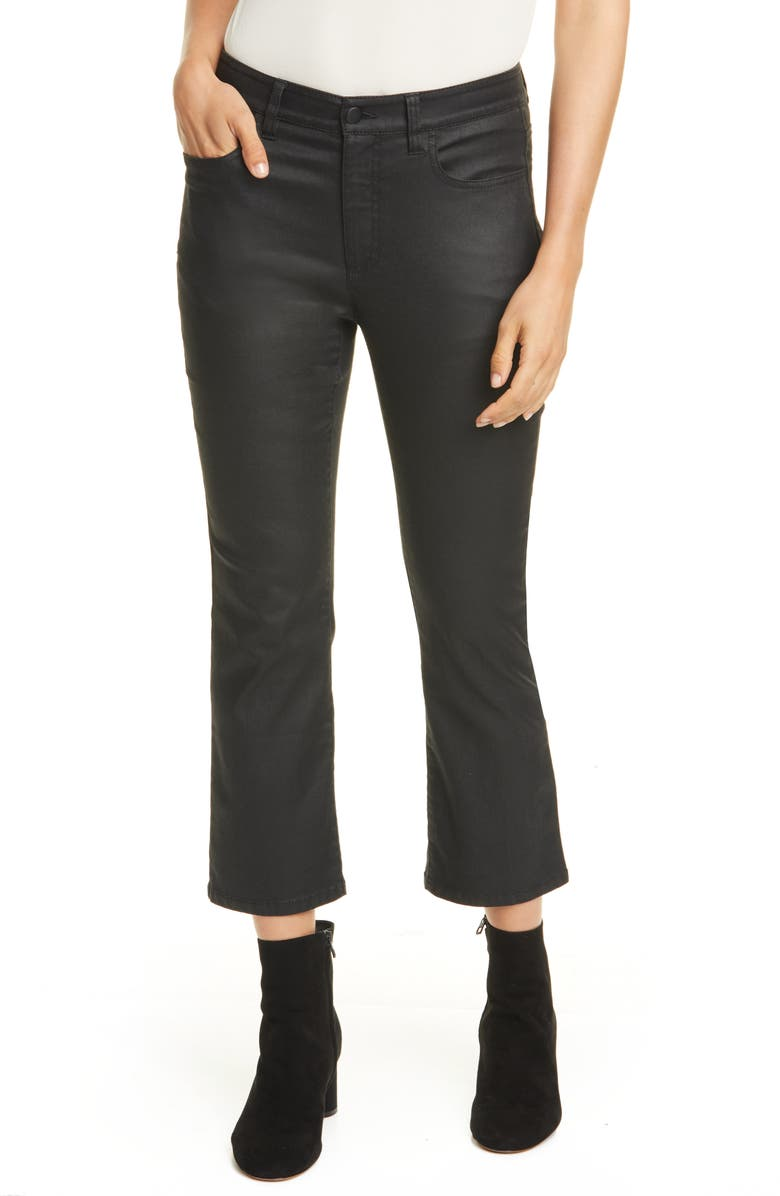 EILEEN FISHER Flare Crop Jeans, Main, color, BLACK