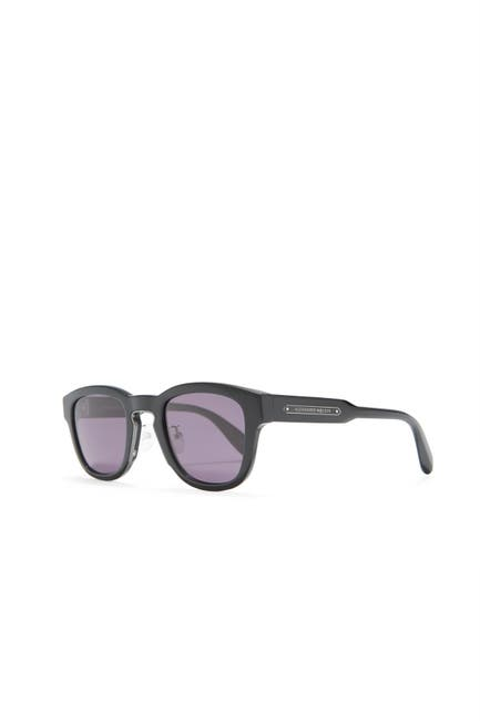 Image of Alexander McQueen 50mm Round Sunglasses