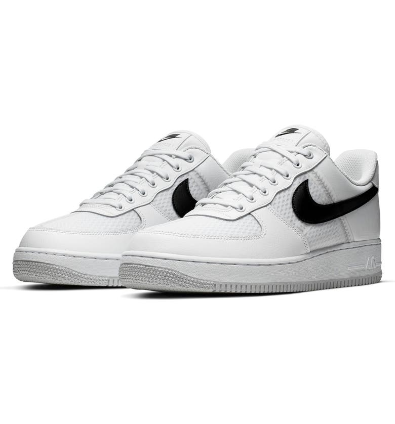 NIKE Air Force 1 '07 LV8 Sneaker, Main, color, WHITE/ BLACK/ PLATINUM