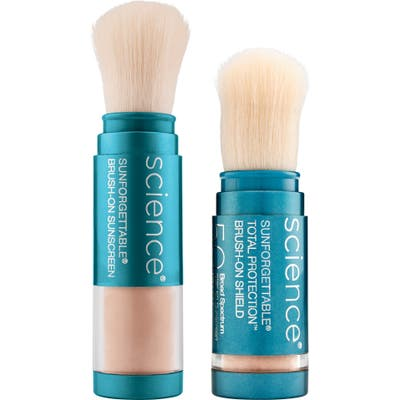 Colorescience Sunforgettable Brush-On Sunscreen Spf 50 Duo