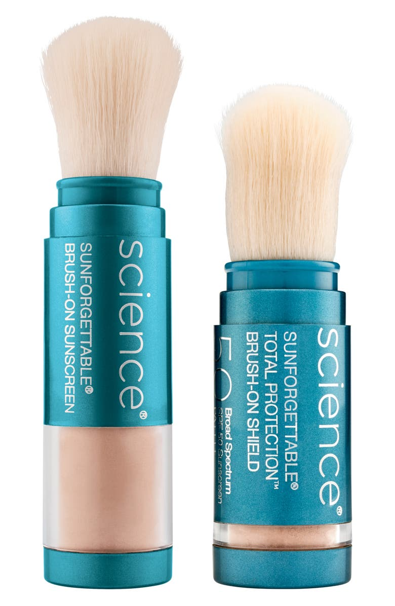COLORESCIENCE<SUP>®</SUP> Sunforgettable<sup>®</sup> Brush-On Sunscreen SPF 50 Duo, Main, color, NO COLOR