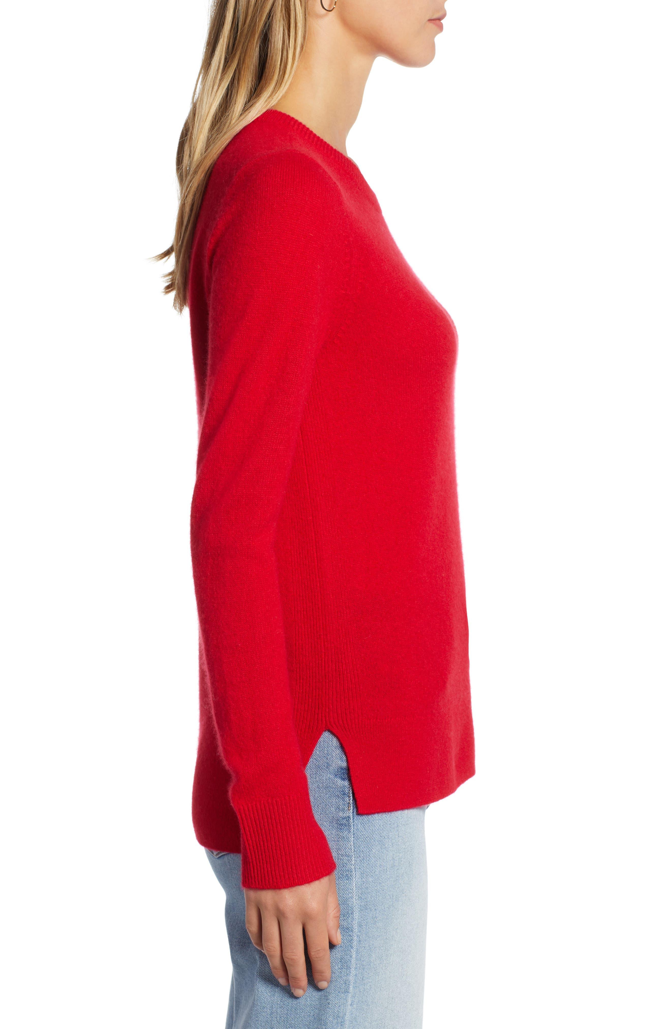 ,                             Crewneck Cashmere Sweater,                             Alternate thumbnail 146, color,                             610