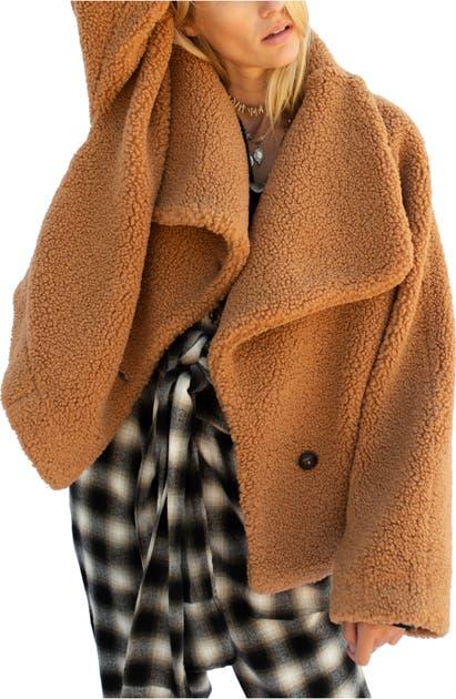 Free People Coats IZZY WRAP TEDDY COAT