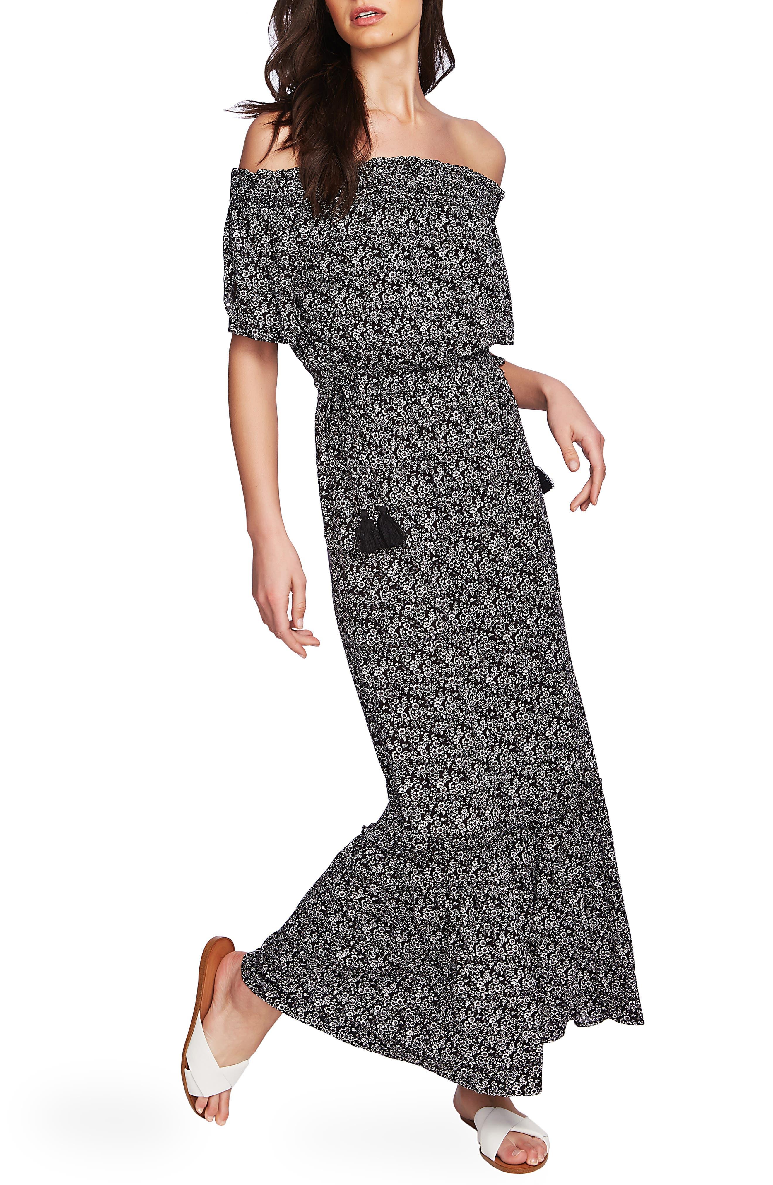 1.state Off The Shoulder Maxi Dress, Pink