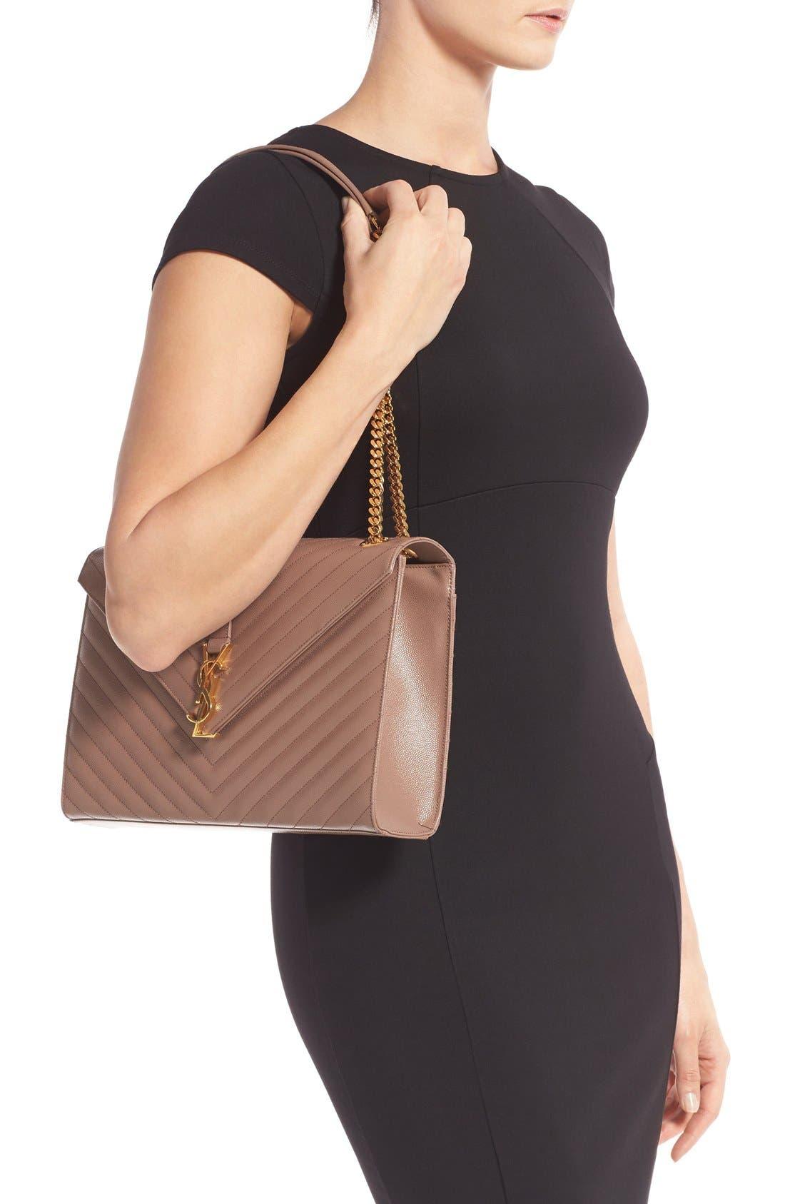 ,                             'Large Monogram' Grained Leather Shoulder Bag,                             Alternate thumbnail 37, color,                             650
