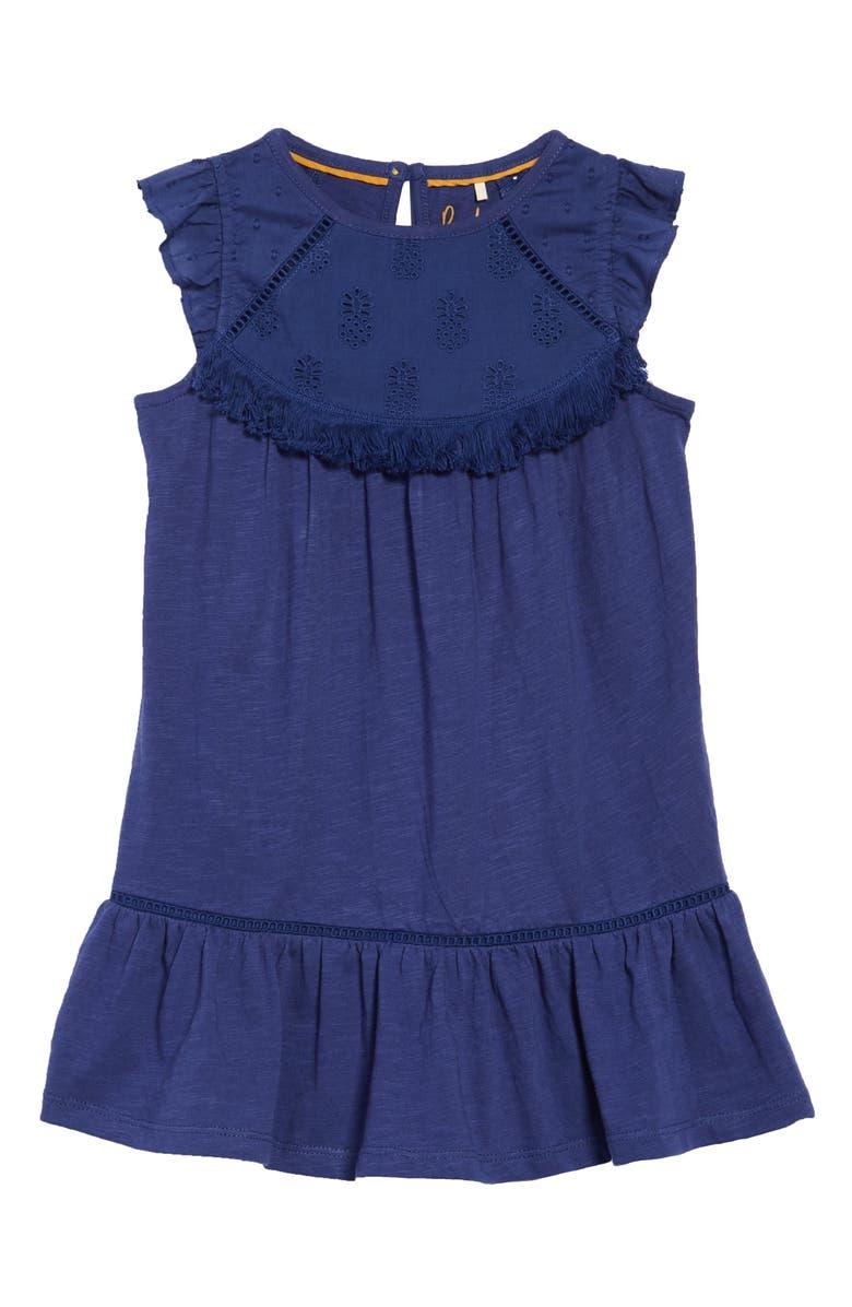 Mini Boden Broderie Detail Dress Toddler Girls Little Girls Big Girls