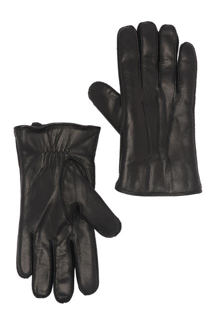 Image of Stewart of Scotland Fleece Lined Leather Gloves