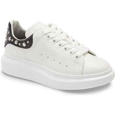 Alexander Mcqueen Studded Low Top Sneaker, White