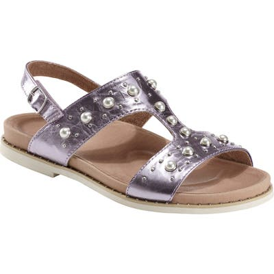 Earth Fuji Studded Sandal- Purple