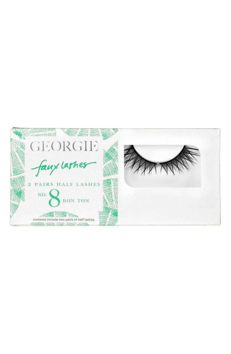 GEORGIE BEAUTY <SUP>™</SUP> Georgie Beauty<sup>™</sup> 'Bon Ton' Faux Lashes, Main, color, 000