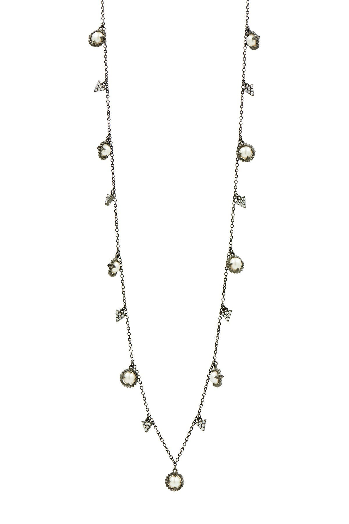 Image of Freida Rothman Textured Pearl Delicate Necklace