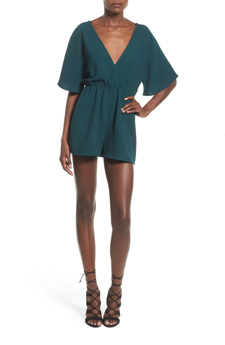LEITH Tie Back Romper, Main, color, 449