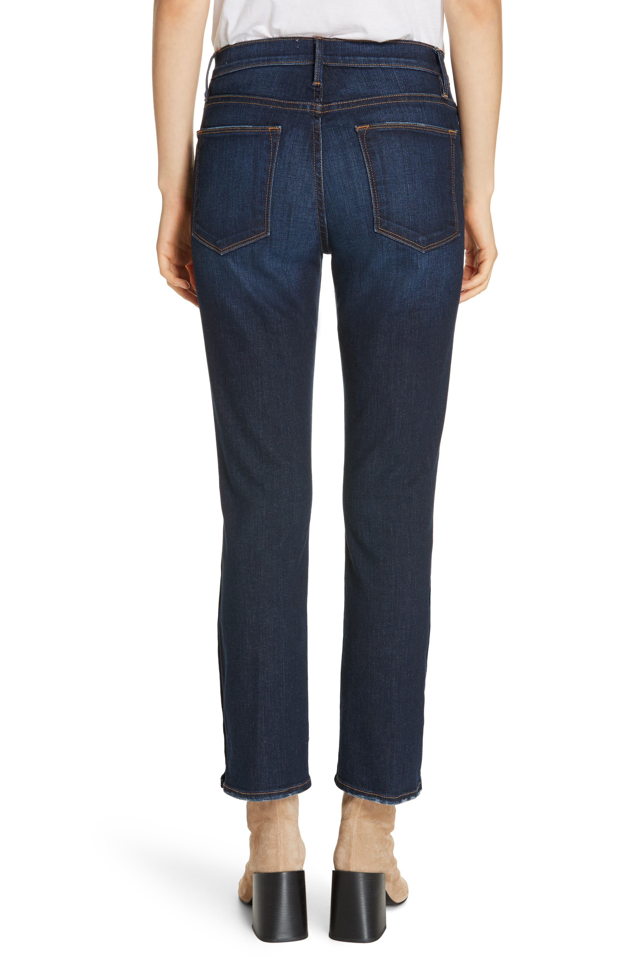 ,                             Le High Straight Snap Away Hem Jeans,                             Alternate thumbnail 2, color,                             401
