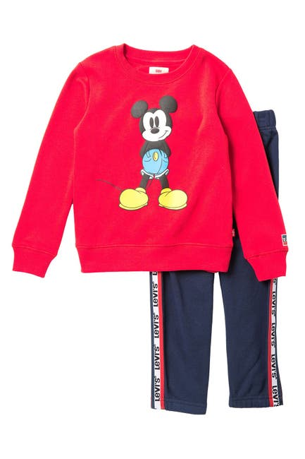 Image of Levi's Mickey Mouse Fleece Pullover 2-Piece Set