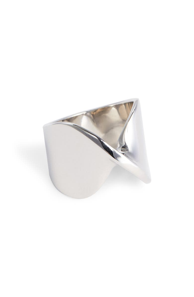 ST. JOHN COLLECTION Open Twist Metal Ring, Main, color, RHODIUM