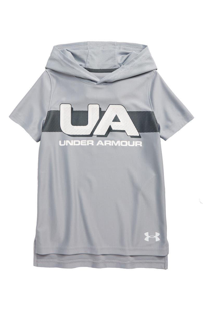 UNDER ARMOUR Tech HeatGear<sup>®</sup> Short Sleeve Hoodie, Main, color, 020