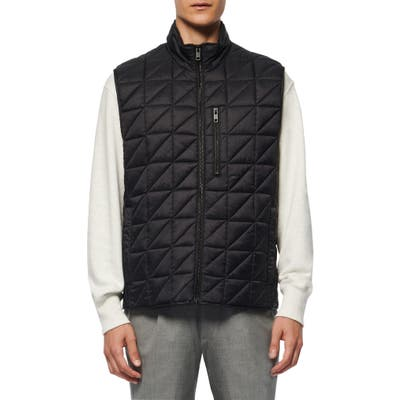 Marc New York Bramble Water Resistant Quilted Vest, Black
