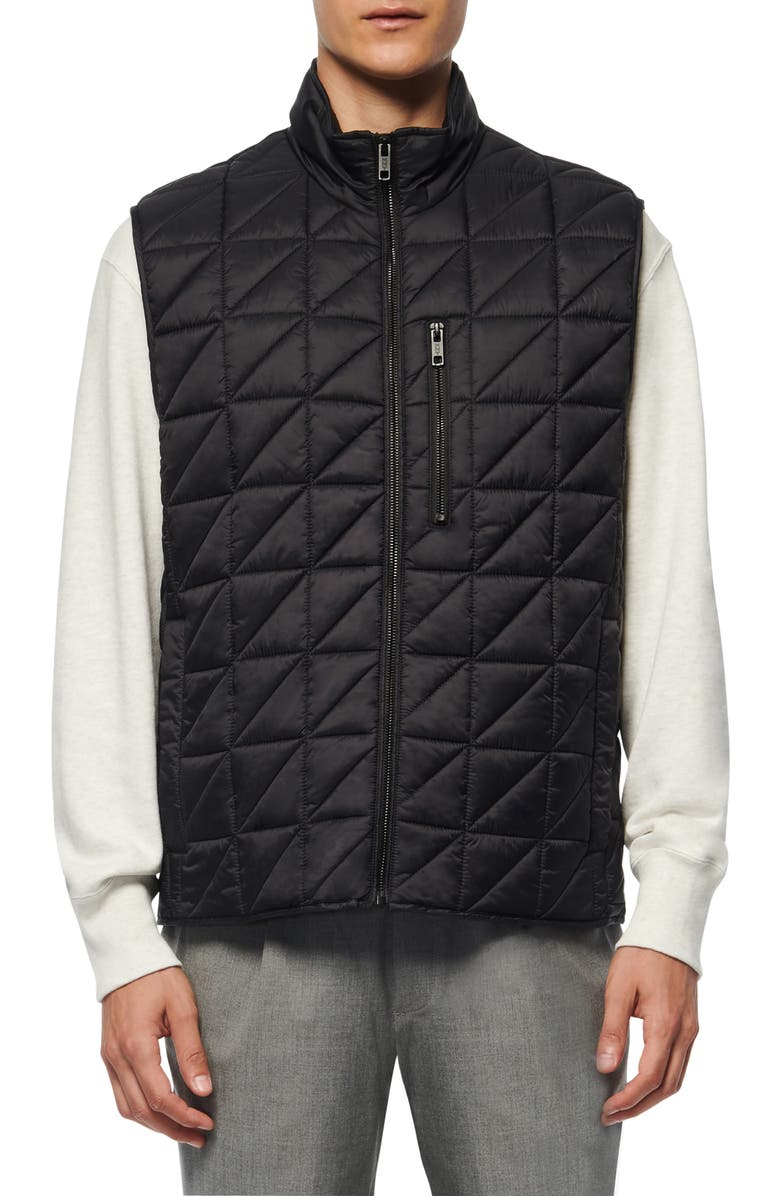 MARC NEW YORK Bramble Water Resistant Quilted Vest, Main, color, BLACK
