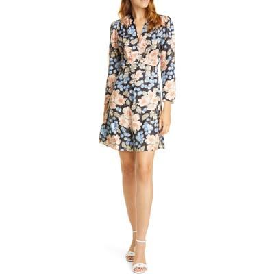 Rebecca Taylor Rose Long Sleeve Minidress, Black