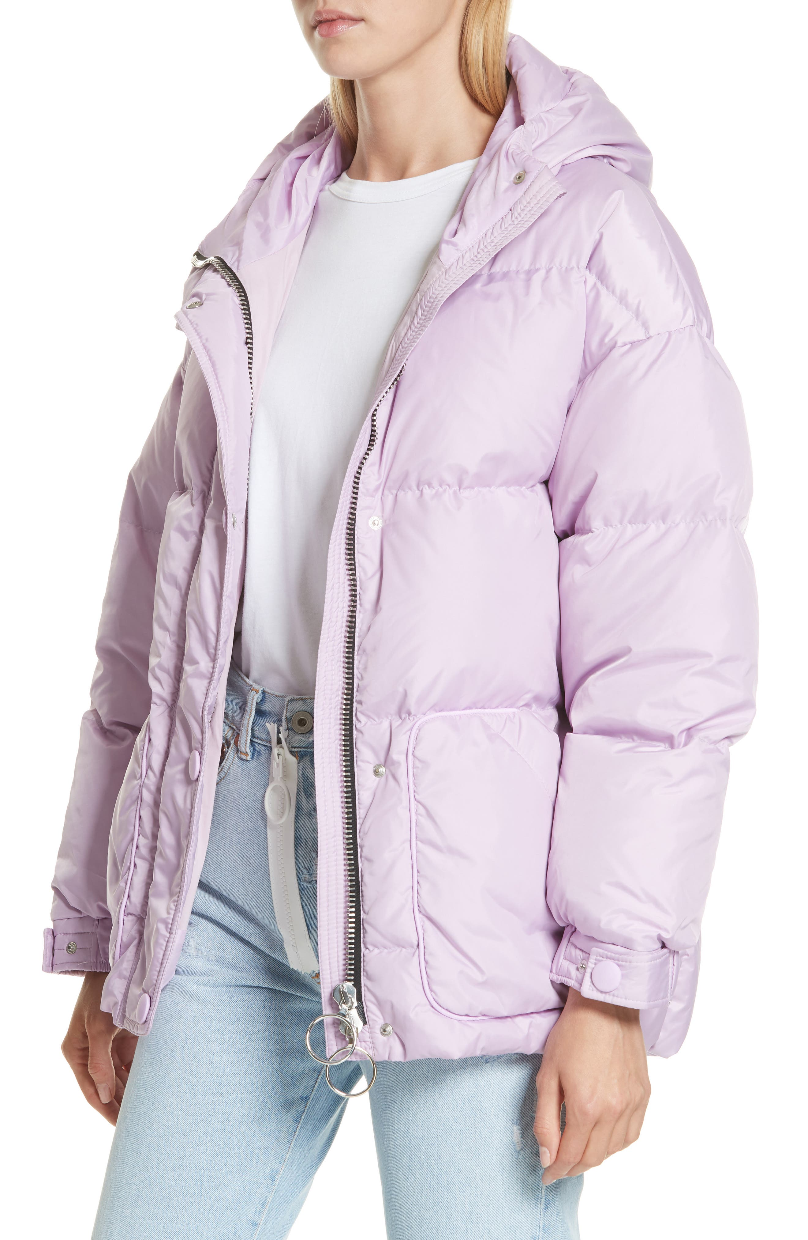 ,                             Michelin Hooded Down Puffer Coat,                             Alternate thumbnail 18, color,                             500