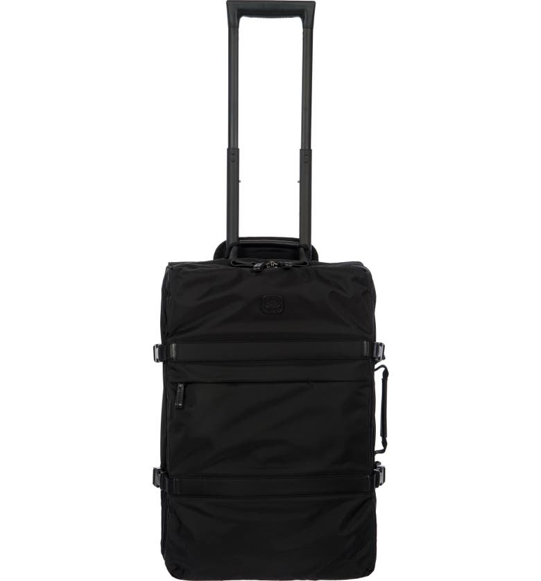 BRIC'S Montagna 21-Inch Wheeled Carry-On, Main, color, BLACK/ BLACK