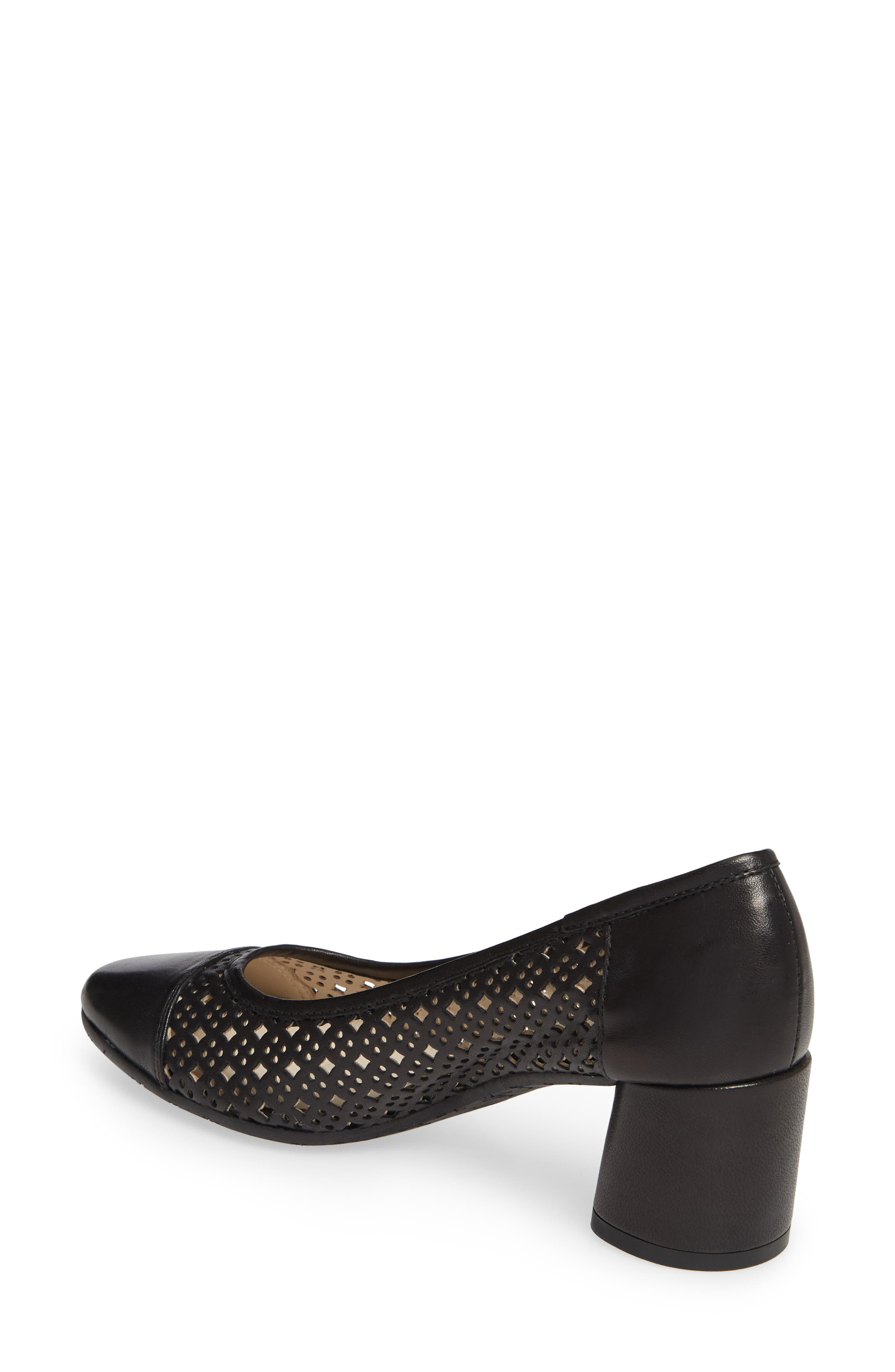 ,                             Rodeo Perforated Pump,                             Alternate thumbnail 2, color,                             BLACK LEATHER