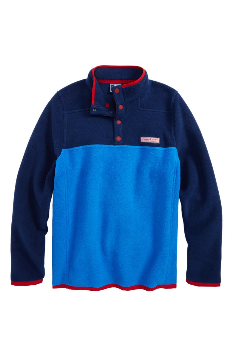 VINEYARD VINES Party Snap Placket Fleece Pullover, Main, color, 400
