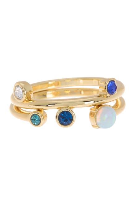 Image of Covet Opal Stack Ring Set - Set of 2