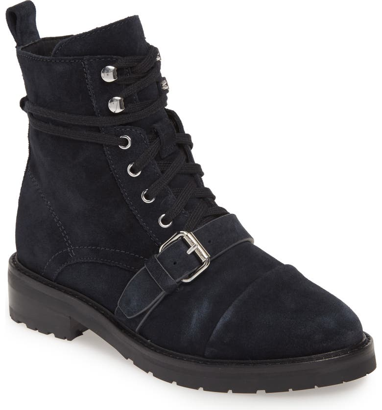 ALLSAINTS Donita Combat Boot, Main, color, GUNMETAL LEATHER