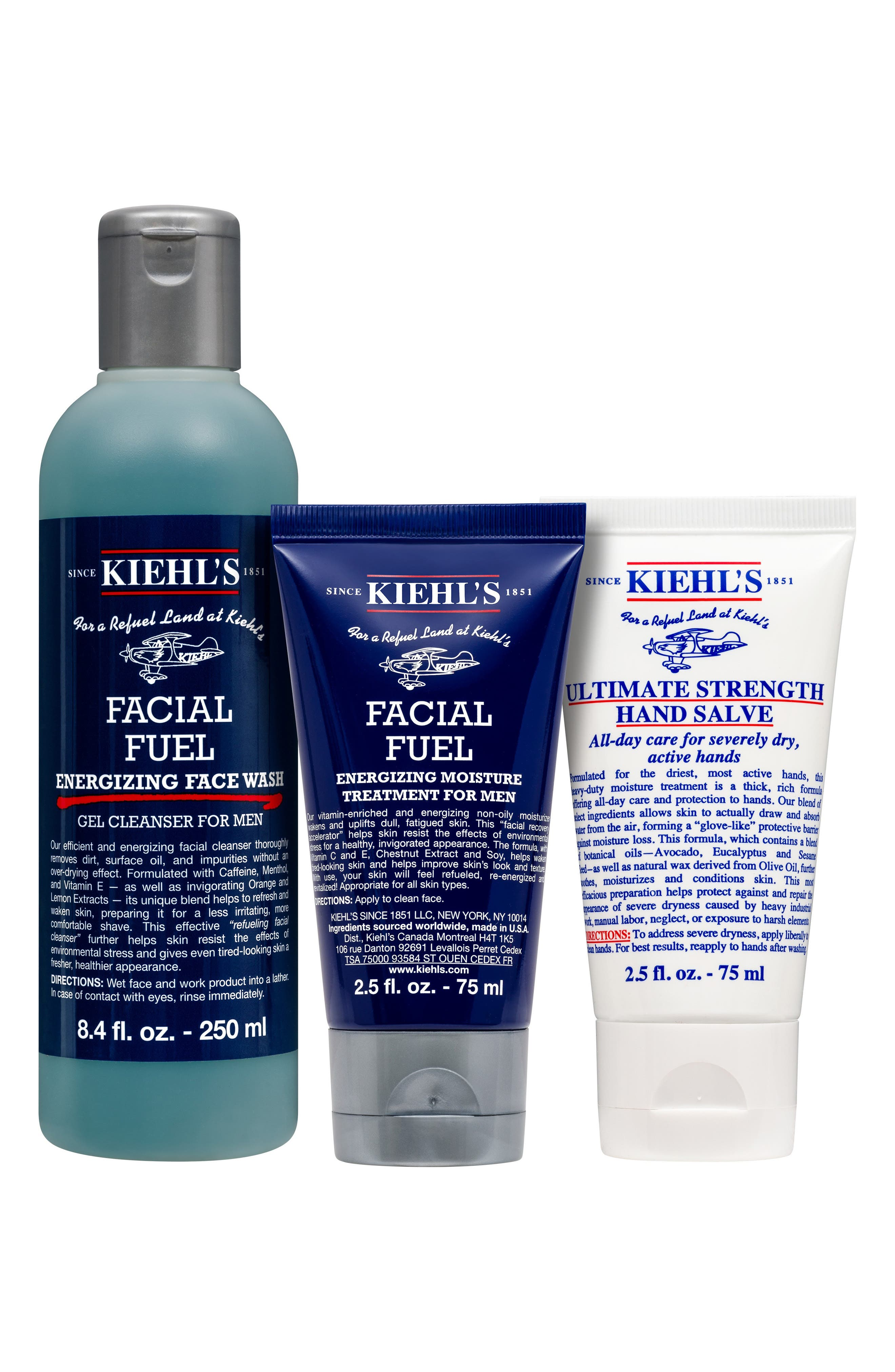 Image of Kiehl's Since 1851 Energizing Essentials for Men